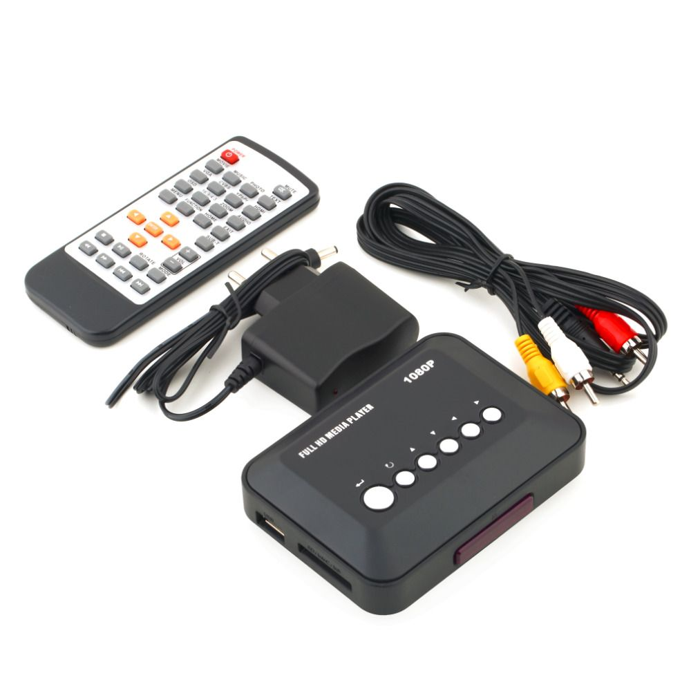 2017 Recién Llegado de 1080 P HD SD/MMC Videos TV SD MMC Caja de TV USB HDMI Media Player RMVB MP3 Multi Gota gratis