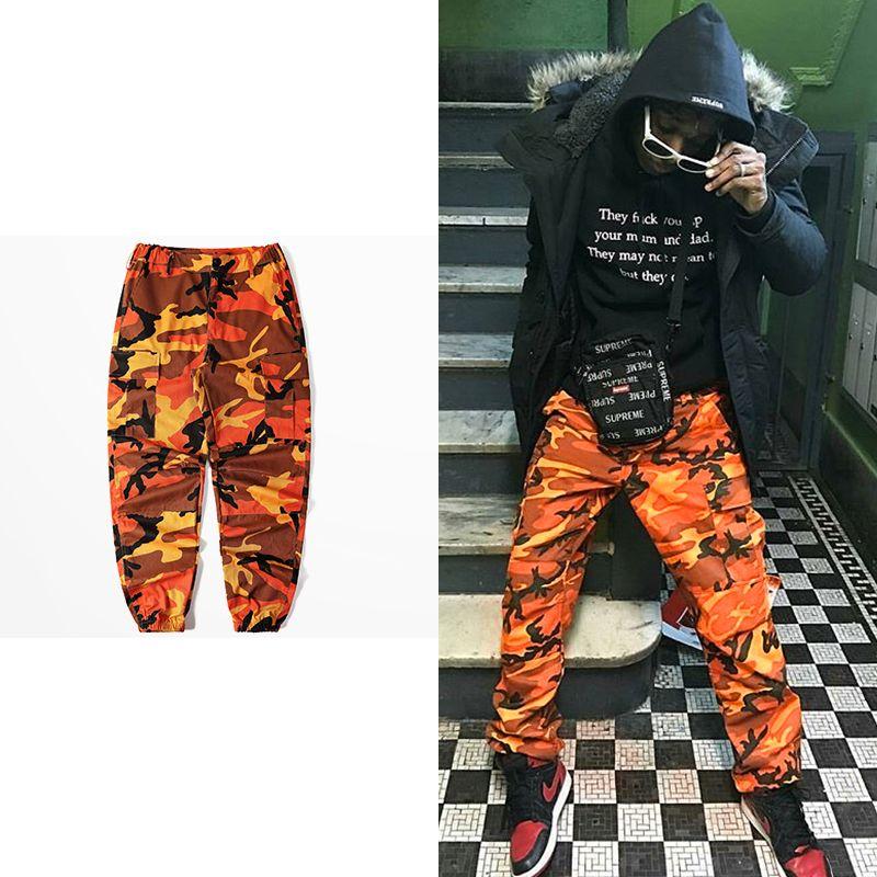Camo Cargo Pants 2017 Mens Fashion Männer Jogger Baggy Taktische Hosen Hip Hop Casual Baumwolle Multi Taschen Hosen Streetwear