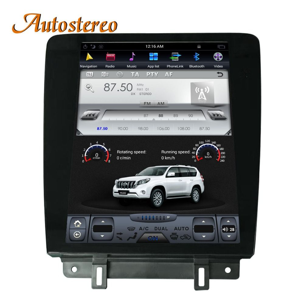 Android Tesla stil Auto Keine DVD-Player GPS Navigation Für Ford Mustang 2010-2014 Autostereo steuergerät multimedia band recorder