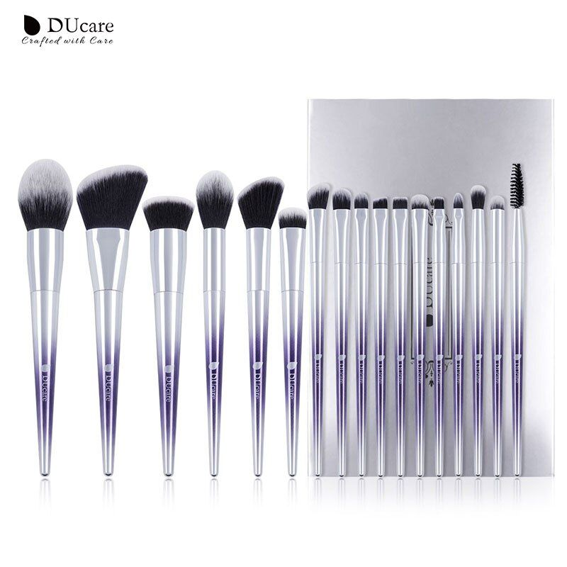 DUcare Brushes for Makeup 9/17 PCS Brush Set Eyeshadow Powder Eyebrow Foundation Brush Synthetic Hair <font><b>Make</b></font> Up Cosmetic Tools