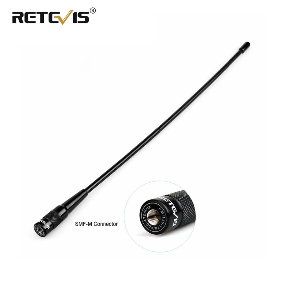 Retevis RHD-771 SMA-M Male Antenna 37.5cm 144/430Mhz VHF UHF Hf Antenna For Retevis RT1 RT2 RT3 RT8 RT81 For TYT MD-380/UV8000D