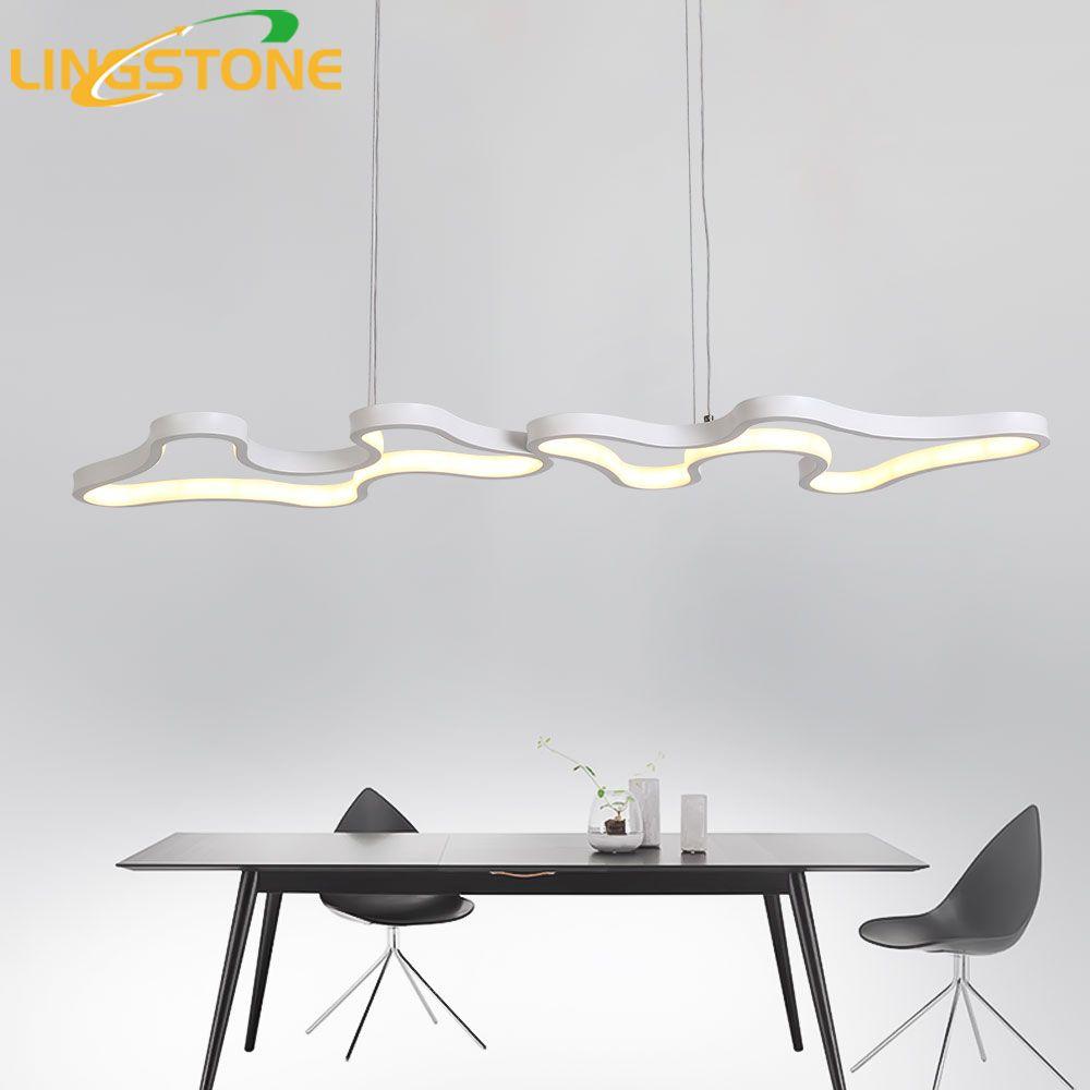 Moderne Led Anhänger Lichter Hanglamp Aluminium Fernbedienung Dimmen Hängen Leuchte Küche Lampe Wohnzimmer Restaurant