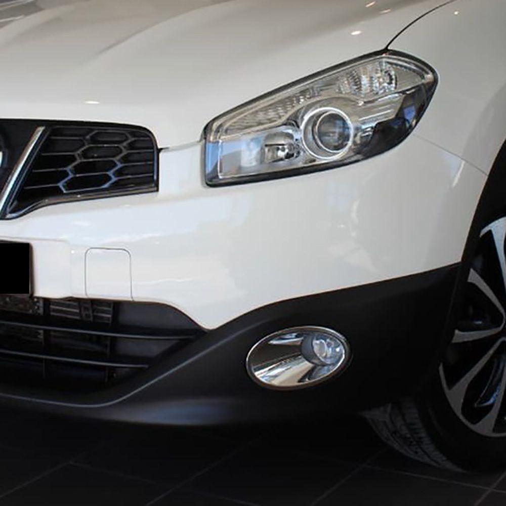 Pour Nissan Qashqai + 2/Dualis Ti Facelift 2010 2011 2012 2013 Chrome avant antibrouillard lumière couvercle garniture voiture protéger accessoires