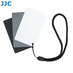 JJC Camera DSLR SLR Film Photography Small WB Tool 8.5x5.4cm White Balance Digital 18% Gray Card for Canon/Nikon/Sony/Pentax