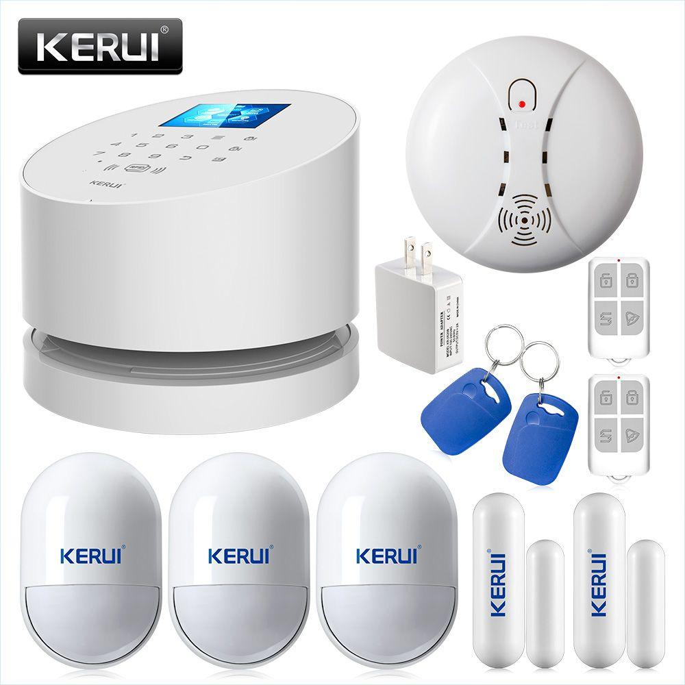 KERUI W2 WIFI alarme réseau IOS Android APP télécommande WiFi GSM PSTN cambrioleur système d'alarme de sécurité à domicile