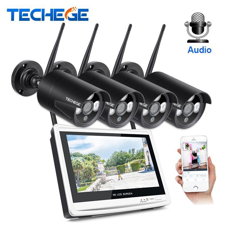 Techege 1080P Wireless NVR Kit 12