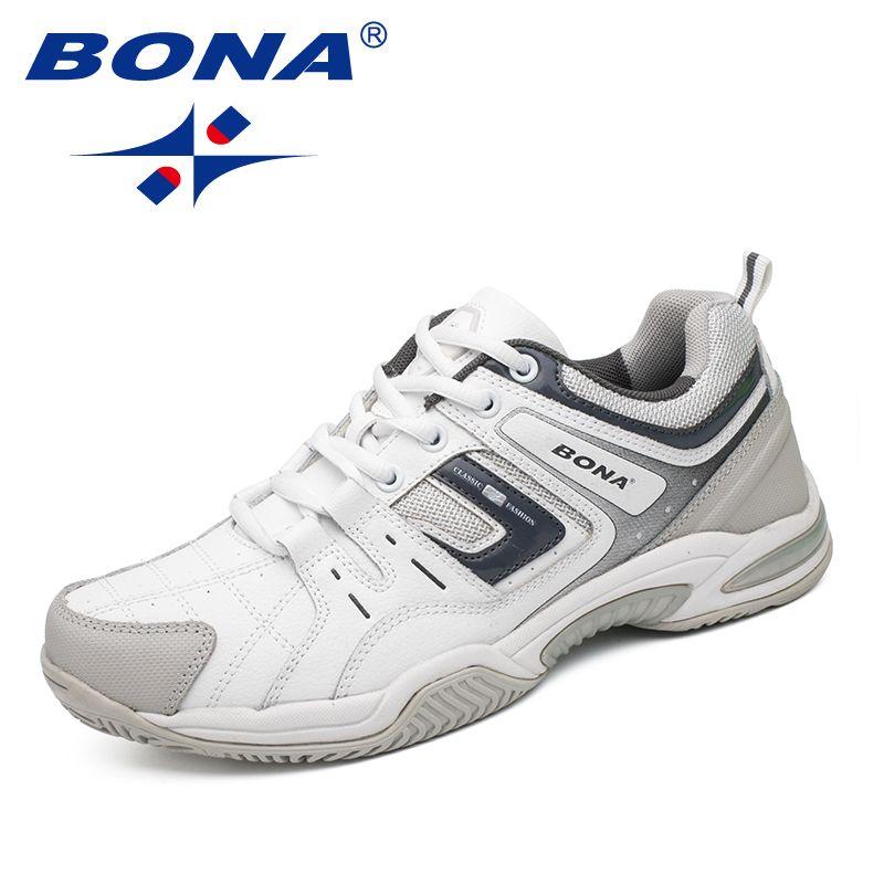 BONA Neue Ankunft Klassiker Stil Männer Tennis Schuhe Outdoor-jogging-schuhe Training Turnschuhe Schnüren Männer Sportschuhe Freies Verschiffen