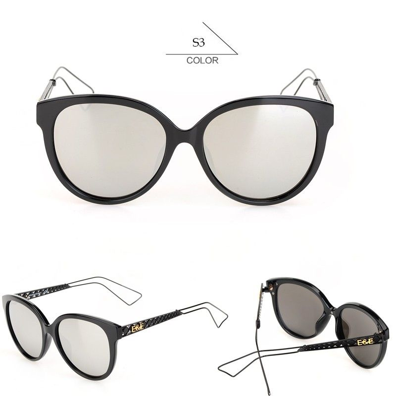Cat Eye Sunglasses Women EE Brand Designer Mirrored Colorful Lens Glasses Oculos Feminino With Logo MZ301-350 Sun Glasses