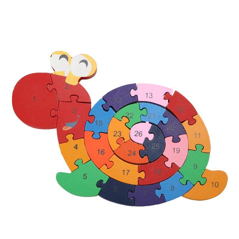 Los niños Juguetes Educativos Para Niños Juego Del Cerebro de Bobinado Madeira Jjigsaw Caracol Juguetes Tetris 3D Rompecabezas De Madera de Juguete De Madera Rompecabezas