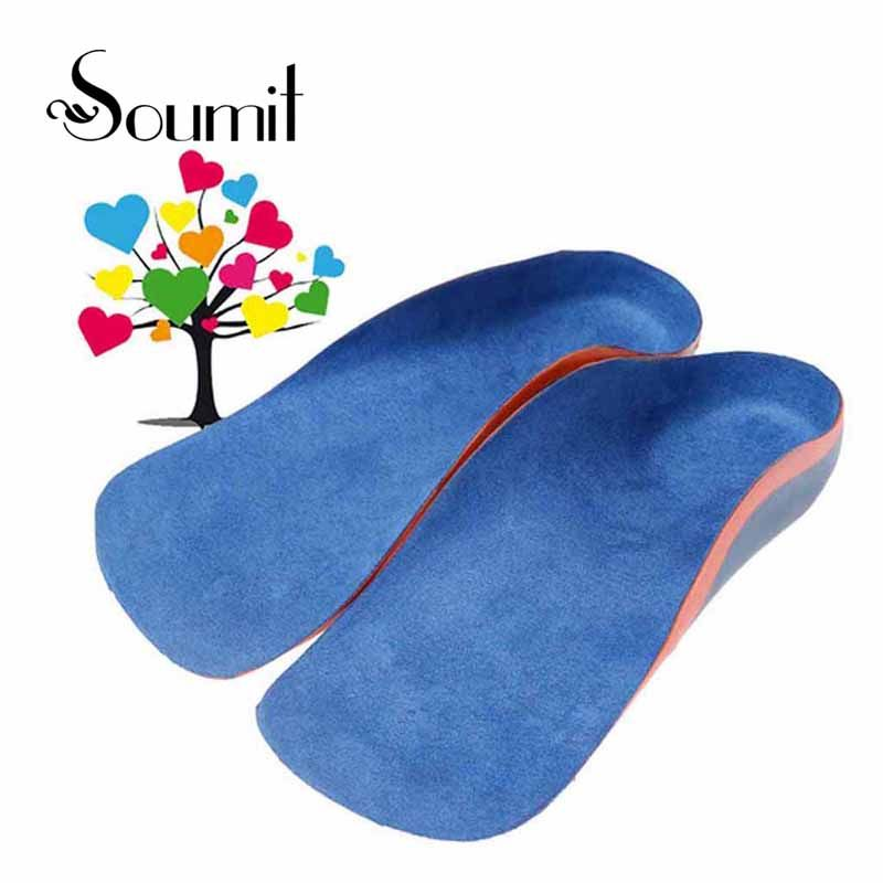 Soumit Children Orthopedic Insoles for Flat Foot Arch Support Shoes Pad Kids Health Care Orthotic Semelle Chaussure Shoe Insole