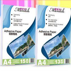 135g 150g A4 50 feuilles A6 100 feuilles Auto-Adhésif Impression Jet D'encre avec retour colle autocollant photo papier