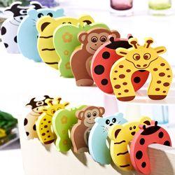 10 unids/set niños Seguridad Puerta de dibujos animados pinza mano tarjeta de seguridad animal lindo bebé puerta Tapones seguridad clip