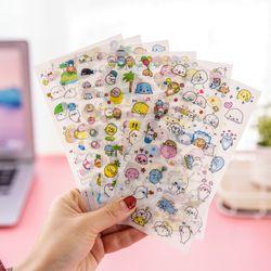 6 pcs kawaii liburan singa laut pvc Transparan Organizer Kalender Buku Perencana Diary Stiker Dekorasi Lembar Memo papeleria penjualan