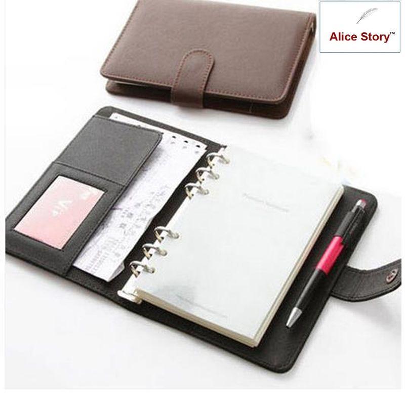 A5 et A6 Business élégant Pu couverture en cuir spirale carnet planificateur organisateur Agenda travail Journal calendrier quotidien mémo cadeau