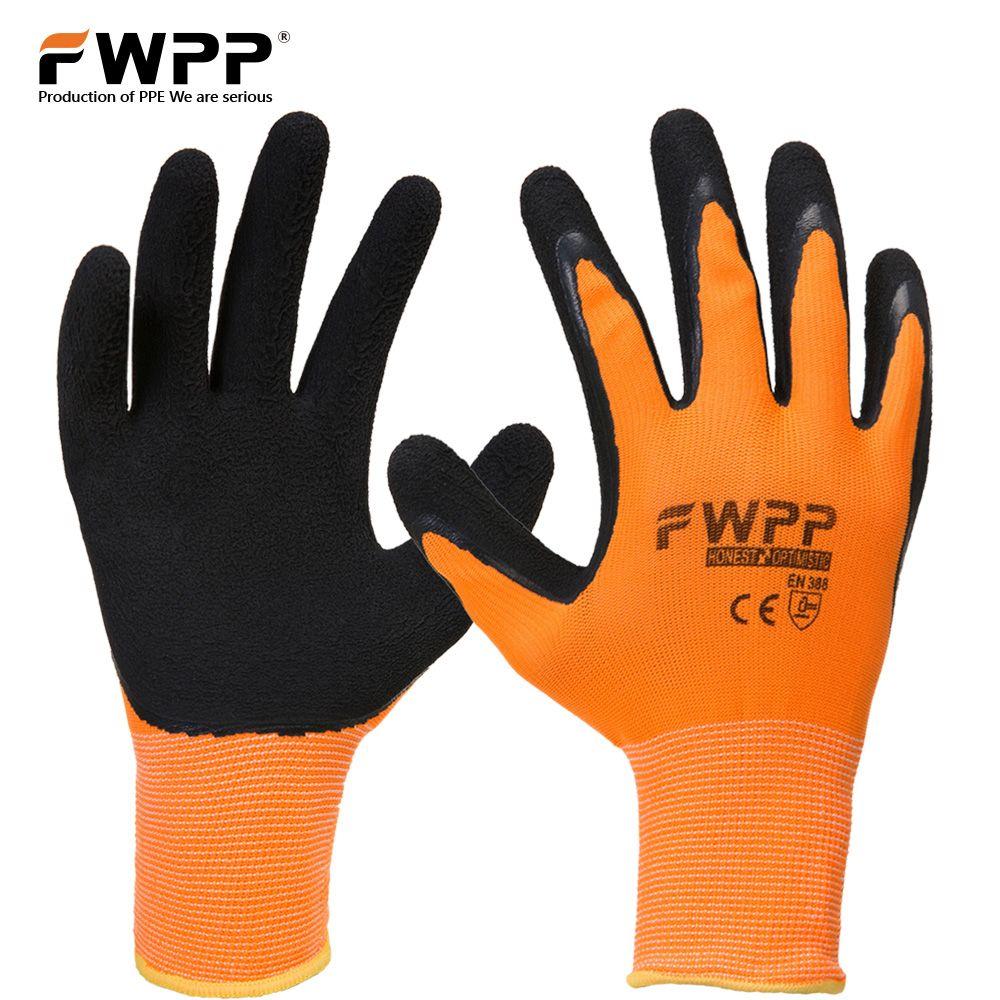 Fwpp 3 пары высокая видимость нейлон латексом рабочие Прихватки для мангала противоскользящие износостойкие мягкие и удобные M, L XL