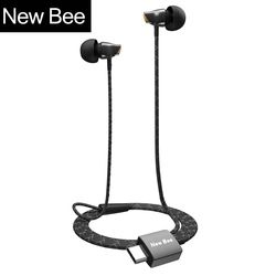 New Bee Type-c Earphone Headset USB-c Ceramic Stereo Earbuds Clear Bass Wired Earphone for Huawei Google Samsung Type-C Phone