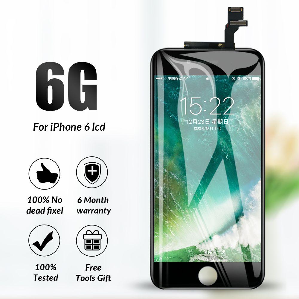 Grade AAA LCD Pour iphone 6 Affichage écran tactile remplacement du numériseur Assemblée Complet pour iphone 6 Lcd Ecran Pantalla Avec Outils