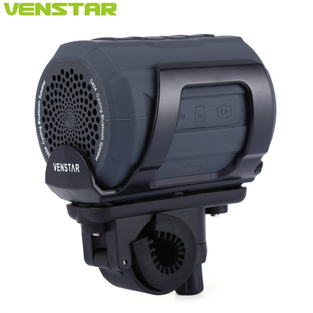 VENSTAR S404 Portable Bluetooth Speaker Column Subwoofer FM Radio <font><b>Loudspeaker</b></font> for Motorcycle Bike Bicycle Outdoor Cycling Sports