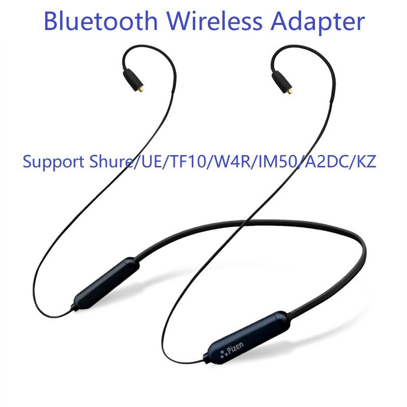 PIZEN Bluetooth Wireless adapter 0.78 0.75MM 2PIN MMCX Cable with microphone For Shure/Westone/JVC/FiiO KZ TF10 W4R TRN tfz