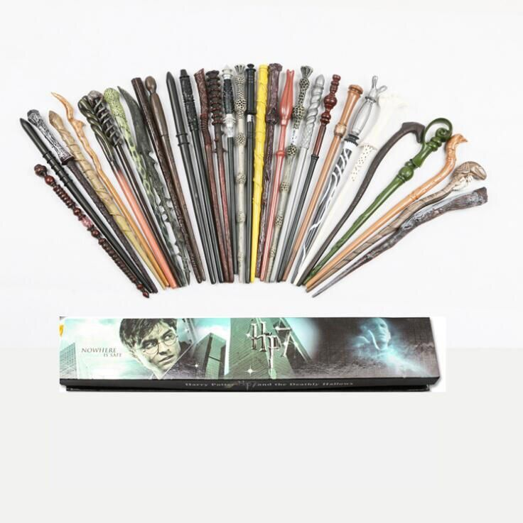 2017 Harry Potter COS Hot Sale New Harry Potter Magic Wand Deathly Hallows Hogwarts Gift magic wand Voldemort Gift Box Packing