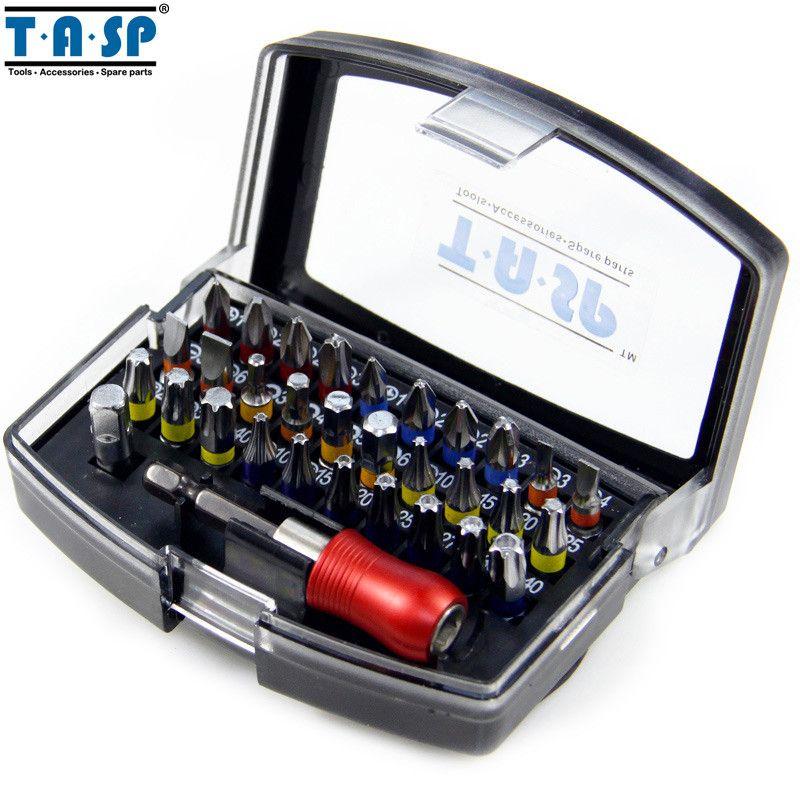 TASP 32PC Professional Screwdriver Bits Set Head PH PZ SL Hex Torx with 1/4