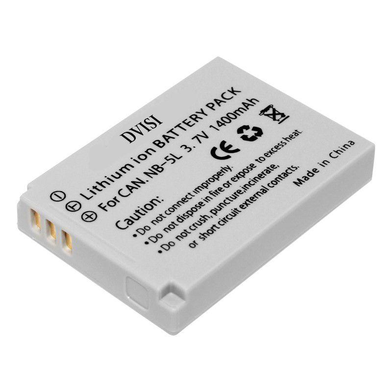NB-5L 5L Batterie Rechargeable pour Canon NB-5L Powershot S100 SX200 SX230 HS SX210 EST SD790 EST SX200 EST SD800 EST SD890 EST
