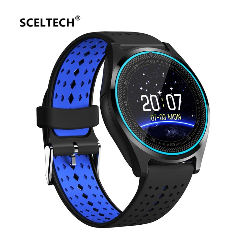 SCELTECH Bluetooth Smart Watch V9 with Camera Smartwatch <font><b>Pedometer</b></font> Health Sport Clock Hours Men Women Smartwatch For Android IOS