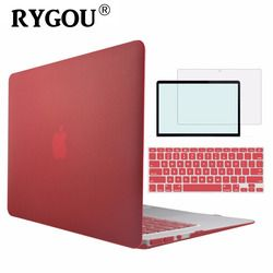 RYGOU Clear Matte Hard Case For Apple Macbook Air Pro Retina 11 12 13 15 Laptop Cases For Mac Book Air 11.6 13.3 Pro 13 15 inch