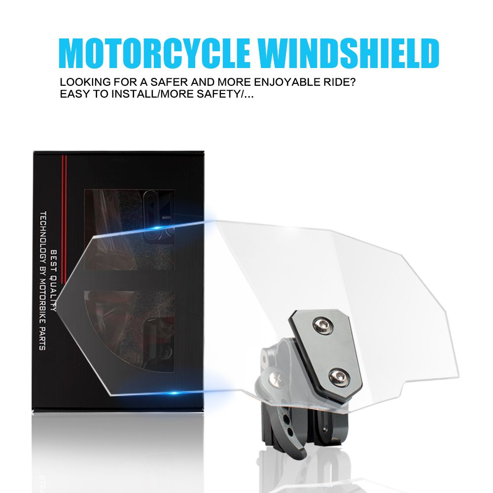 Windshield Deflector Motorcycle Windscreen for honda goldwing gl1800 s1000xr yamaha mt 03 m109r cbr 250r sv 650 bmw gs vfr 800