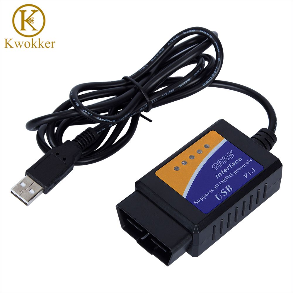 Factory Price OBD/OBDII Scanner ELM 327 Car Diagnostic Interface Scan Tool ELM327 USB Supports all OBD 2 Protocols Diag Tool