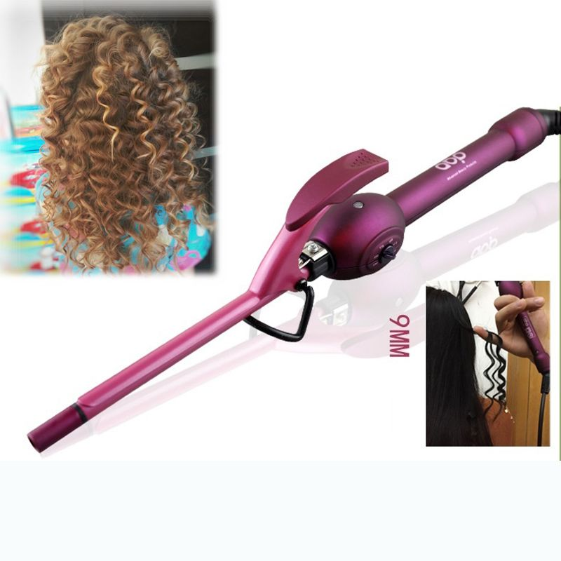 9mm <font><b>curling</b></font> iron hair curler professional hair curl irons <font><b>curling</b></font> wand roller rulos krultang magic care beauty styling tools