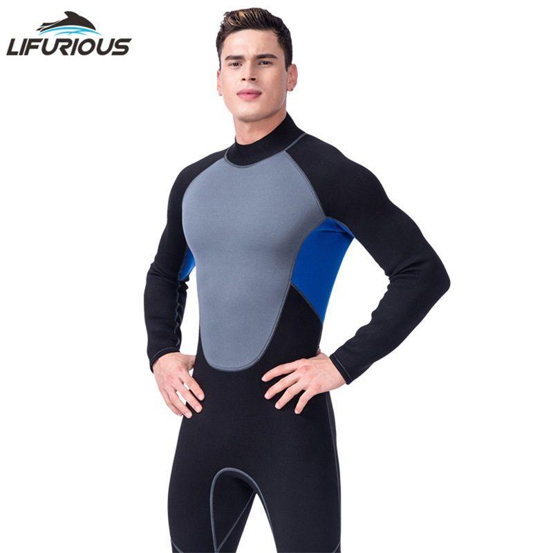 LIFURIOUS Schwimmen Neopren Neoprenanzüge Männer Schwimmen Tauchen Surfen Badeanzug Langärmelige Overall Für Männer Neoprenanzug Badebekleidung