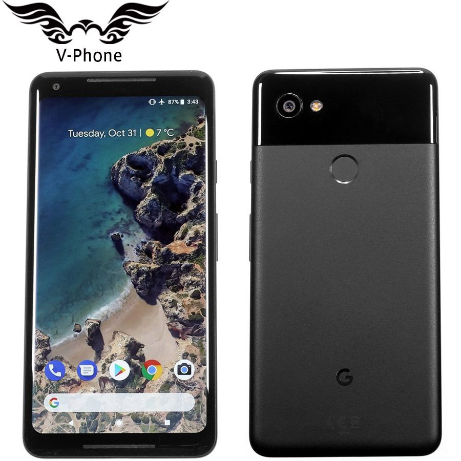 EU Version Google Pixel 2 XL 6,0 ''Octa Core Einzelne sim 4G LTE Original Neue Android telefon 4 GB RAM 64 GB 128 GB ROM EU Smartphone