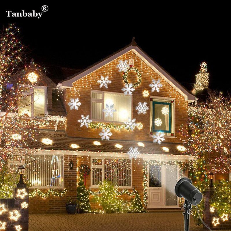 Tanbaby Proyector Láser Proyector Láser En Movimiento A Prueba de Nieve de navidad Navidad Año Nuevo LED DMX DJ de la Etapa de La Luz Del Jardín