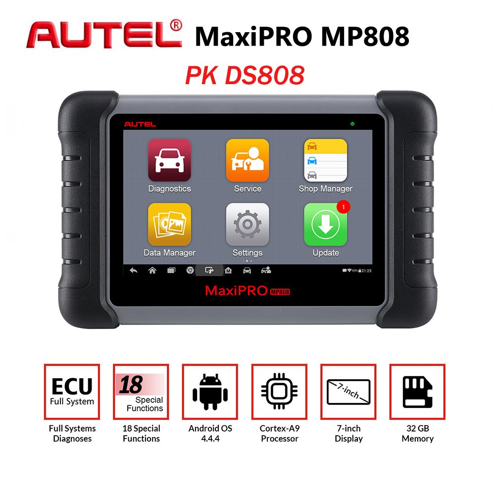 Neue Autel MaxiPRO MP808 Auto Diagnose Werkzeug Automotive Scanner Auto Full System Test OBD Autoscanner PK Maxisys MS906 DS808