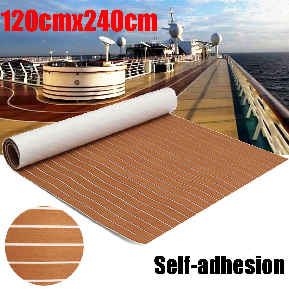 120x240cm Self Adhesive EVA Foam Teak Sheet Teak Flooring Teak Boat Decking Marine Car Yacht Floor Mat Synthetic Teak Pad