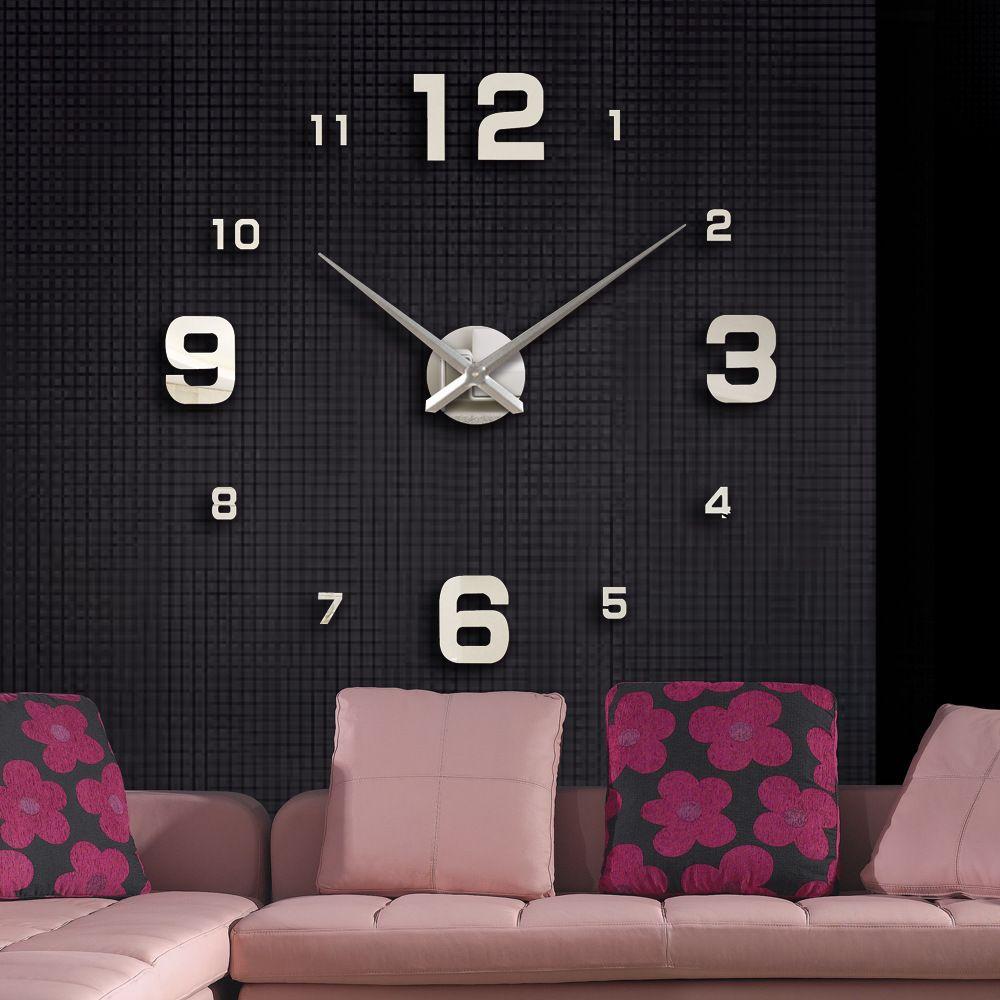 2019 muhsein nouvelle décoration de la maison grand miroir horloge murale design moderne grande horloge décorative horloges murales montre livraison gratuite