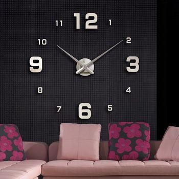 2020 muhsein New Home decoration big mirror wall clock modern design large Clock decorative Wall Clocks watch Free shipping