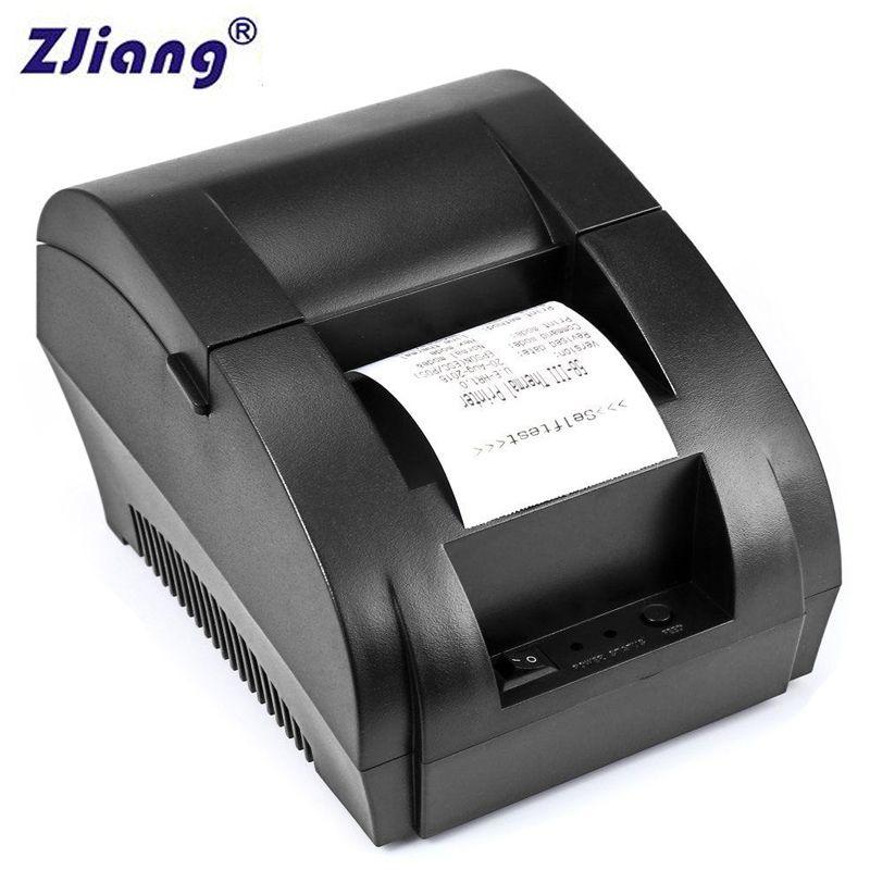 Original ZJ 5890 K 58mm POS thermique reçu facture imprimante universel Ticket imprimante Support tiroir-caisse pilote Dot-matrix