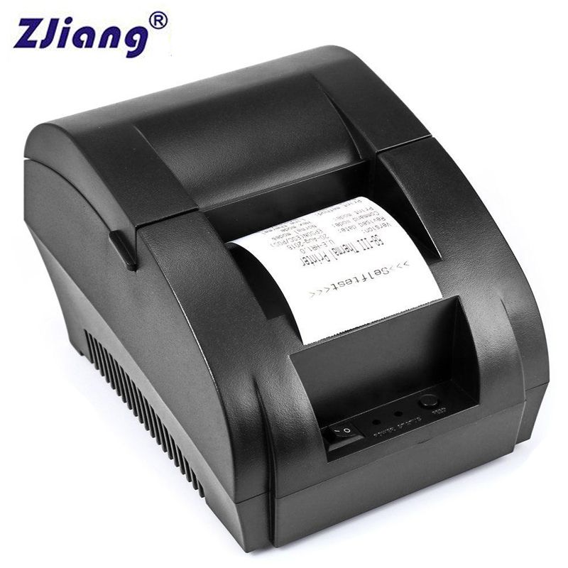 Original ZJ 5890K 58mm POS Thermal Receipt Bill Printer Universal Ticket Printer Support cash drawer driver Dot-matrix