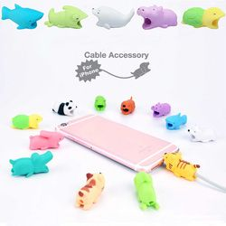 priority Cable Protector cartoon animal bite phone cable Winder accessory organizer animal chompers