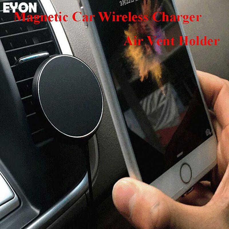 360 degrés voiture QI support pour chargeur sans fil évent magnétique Dock de montage pour SAMSUNG S8 S7 S6 bord Note 8 pour iPhone Xs MAX 8 Plus