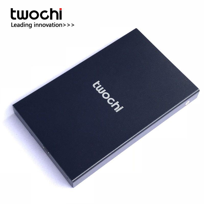 Nouveau Style 2.5 pouce Twochi USB2.0 HDD 80 gb Mince En Métal disque dur Externe Portable De Stockage disque en gros et au détail