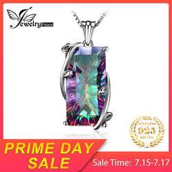 Jewelrypalace 16ct Api Alami Rainbow Mystic Topaz Kuarsa Liontin Kalung 925 Sterling Silver Perhiasan Tanpa Rantai