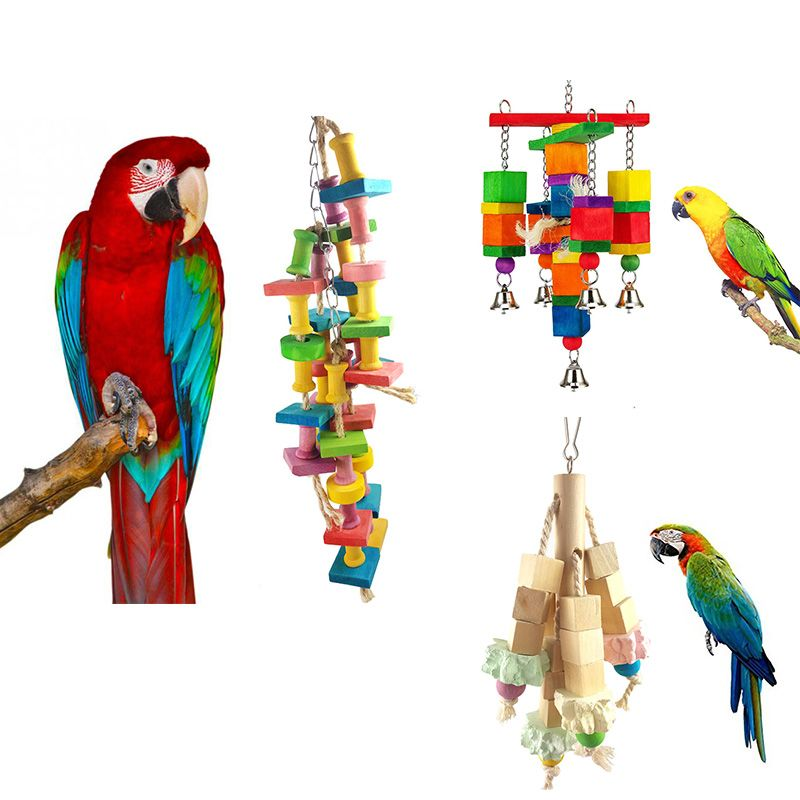 Parrot Toys Pet Bird Bites Climb Chew Toy Hanging Cockatiel Parakeet Climb Chewing Cage Bird Chewing Toys Bird cage Supplies
