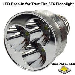 3 x Cree XM-L2 U3 Putih 6500 K/Netral Putih 4500 K 3800 Lumens 8.4 V DIPIMPIN Penurunan untuk TrustFire 3T6 senter (Dia 51mm)