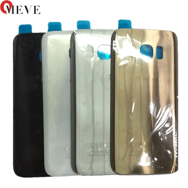 New Rear Panel Glass Battery Back Cover For Samsung Galaxy S7 G930 / S7 edge G935 Battery Cover Glass With Stickers