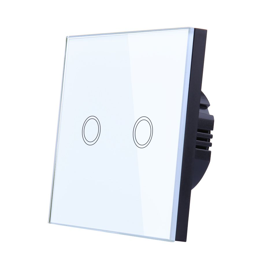Vhome EU/UK Standrad Wall light touch switch 2gang1way 170-250V 5A crystal glass wireless LED touch screen wall lamp chandelier