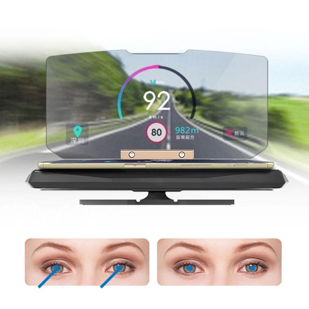 Projecteur universel de pare-brise de voiture HUD affichage tête haute support pour téléphone Mobile multifonction pour téléphone intelligent