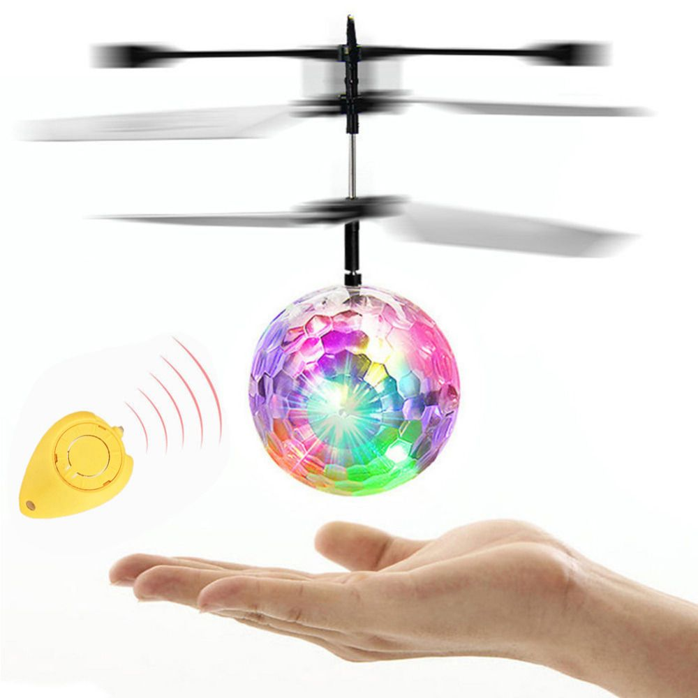 Best seller drop ship Flying RC Electric Ball LED Light Aircraft Helicopter Induction LED lanterns Toys best gift Q1
